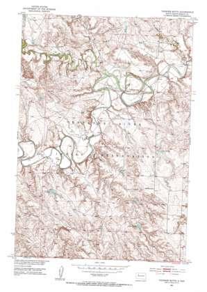 Thunder Butte topo map
