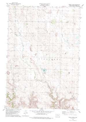 Peach Lake topo map