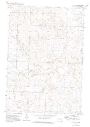 Twin Butte topo map