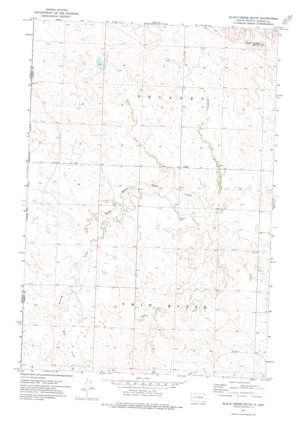 Black Horse Butte topo map