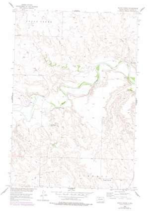 Black Horse topo map