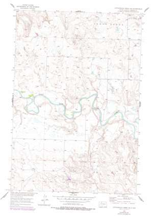Cottonwood Creek Ne topo map