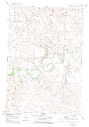 Cottonwood Creek Nw topo map