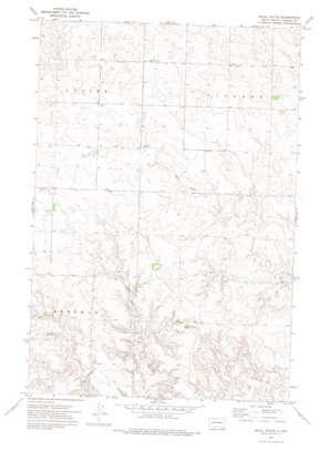 Skull Butte topo map