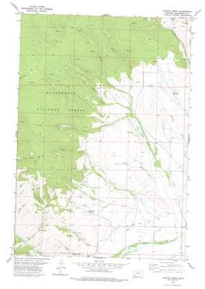 Coyote Creek topo map