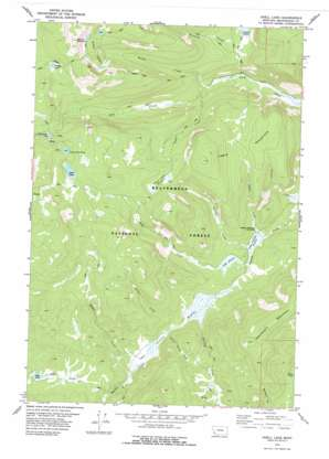 Odell Lake topo map