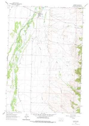 Wisdom USGS topographic map 45113e4