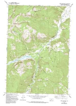 Stine Mountain topo map