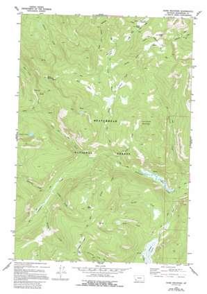 Shaw Mountain topo map
