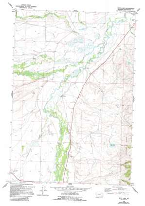 Mud Lake topo map