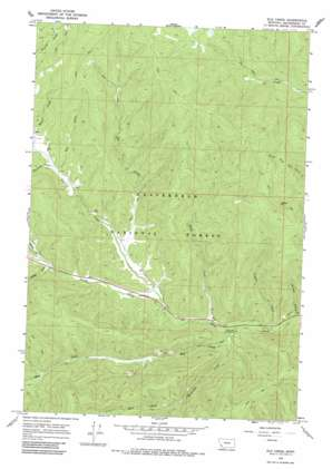 Elk Creek topo map