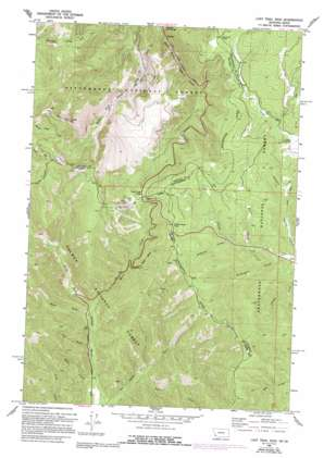 Lost Trail Pass topo map