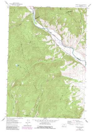 Dickie Hills topo map
