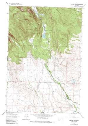 Pintlar Lake topo map