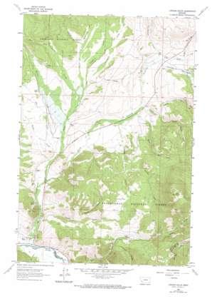 Lincoln Gulch topo map