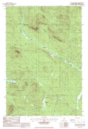 Jack Mountain topo map