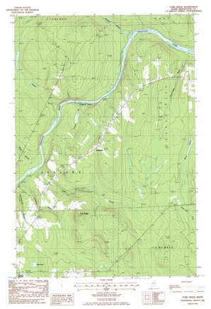 York Ridge topo map