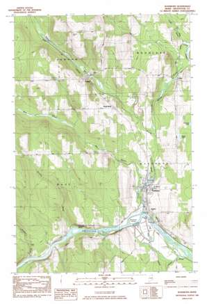 Washburn topo map