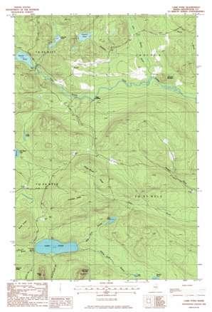 Carr Pond topo map