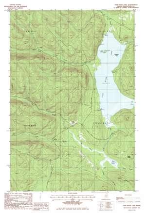 Fish River Lake topo map