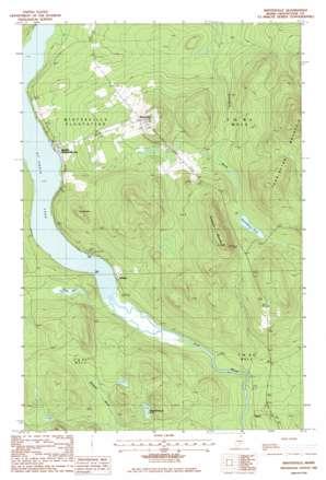 Winterville topo map