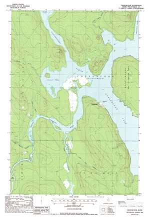 Chesuncook topo map