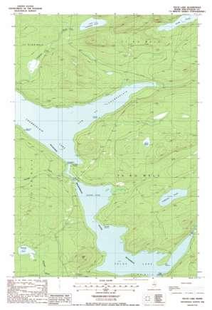 Telos Lake topo map