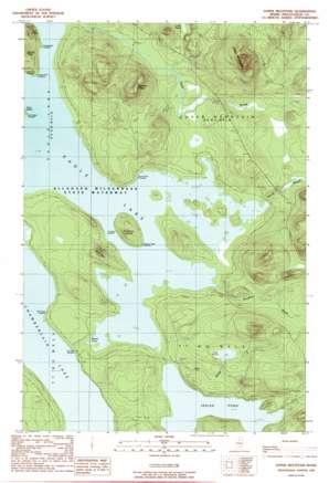 Soper Mountain topo map