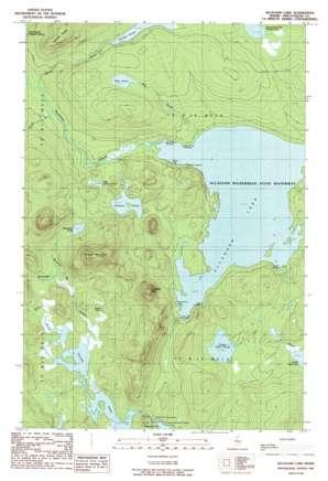Allagash Lake topo map