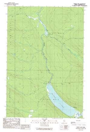 Baker Lake topo map