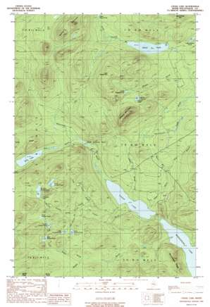 Chase Lake topo map