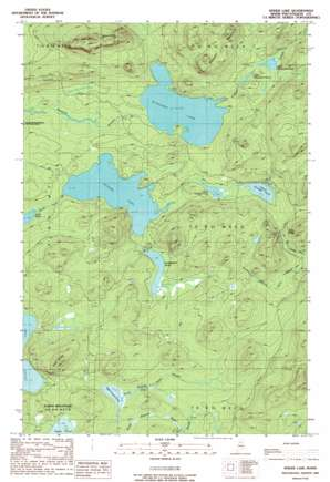 Spider Lake topo map