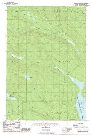 Clarkson Pond topo map