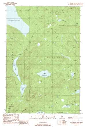 Upper Russell Pond topo map