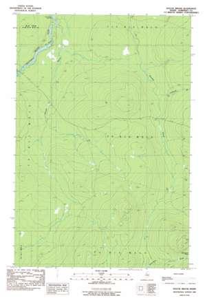 Doucie Brook topo map