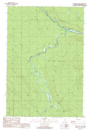 Baker Lake Nw topo map