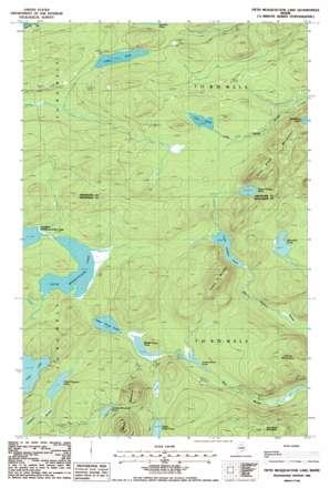 Fifth Musquacook Lake topo map