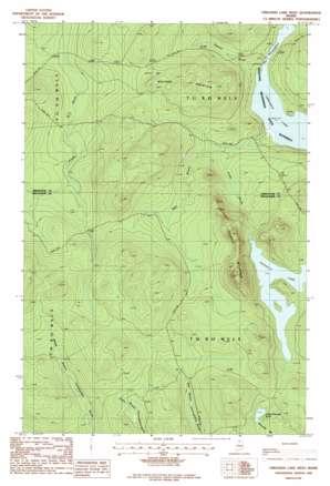 Umsaskis Lake West USGS topographic map 46069e4