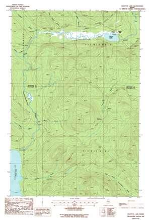 Clayton Lake USGS topographic map 46069e5