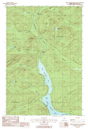 First Musquacook Lake topo map