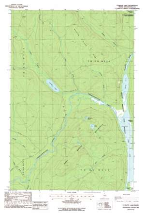 Cunliffe Lake USGS topographic map 46069f4