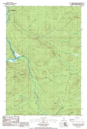 Five Finger Brook USGS topographic map 46069g2