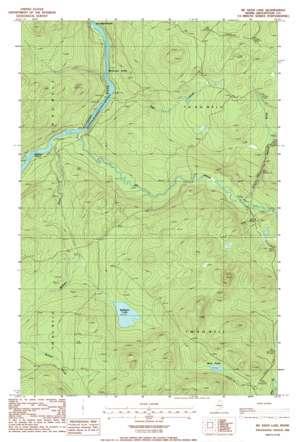 Mckeen Lake topo map