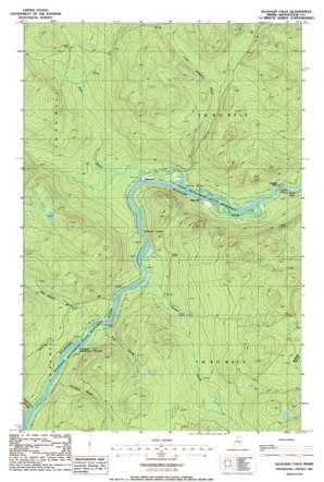 Allagash Falls USGS topographic map 46069h2
