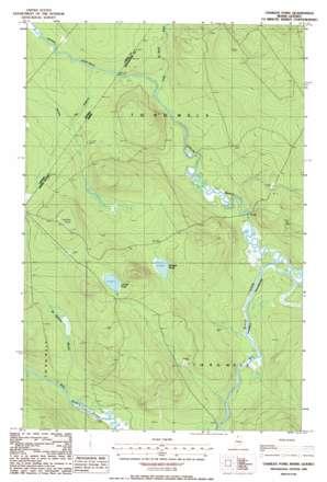 Charles Pond topo map