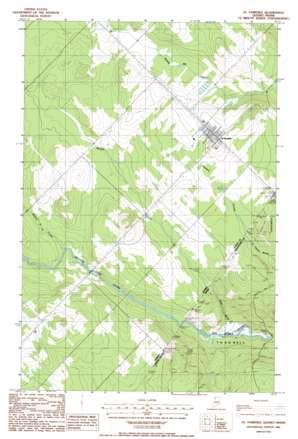 Saint Pamphile topo map