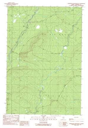 Hardwood Mountain Se topo map