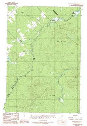 Hardwood Mountain Sw topo map