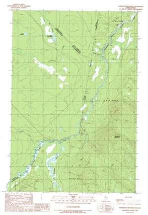 Hardwood Mountain topo map