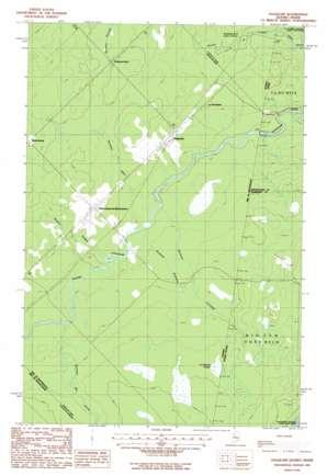 Daaquam USGS topographic map 46070e1